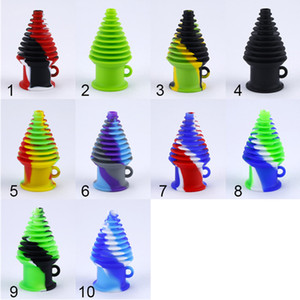 Silicone Hookah Tips For Glass Bong Mouthpiece Filter Mini Dab Rigs Portable Silicone Hookahs For Smoking Accessories SP243
