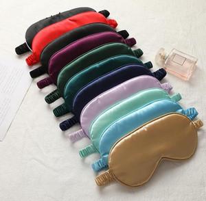 Silk Sleep Masks Rest Shading Eye Mask Padded Shade Cover Eyepatch Travel Relax Aid Blindfolds Eyemask Epacket free
