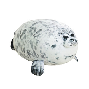 1 pc 30-60cm Cute Sea Lion Plush Toys Soft Marine Animal Seal Stuffed Doll for Kids Gift Sleeping Pillow 3D Novelty Throw Pillow LJ200914
