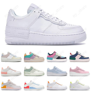 af1 force 1 shadow men women white running shoes pale ivory classic black white skateboarding mens trainer 스포츠 스니커즈