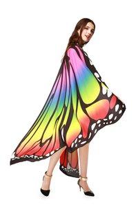 Engraçado Borboleta de Bruxas Butterfly Esgraça Adultos Artificiais Asas Criança Cosplay Toy Dance Performance Traje Mulheres Shawl Partido Fontes WY531HB
