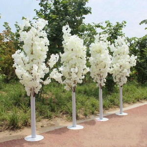 1.5M 5feet Height white Artificial Cherry Blossom Tree Roman Column Road Leads For Wedding Mall Opened Props1