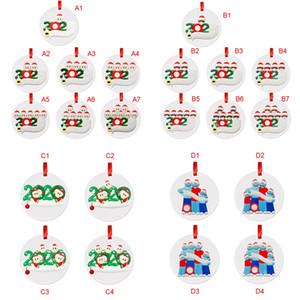 Décorations de Noël pendaison sapin de Noël 2020 morceau beau masque cadeaux de bonhomme de neige de fête d'anniversaire Arbre de Noël Pendentif Accessoires