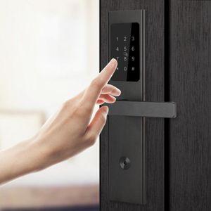 Ultrathin Bluetooth APP Card Password Key Wood Door Lock for Home Hotel Apartment Card Lock Surveillance Siren Alarm Camera