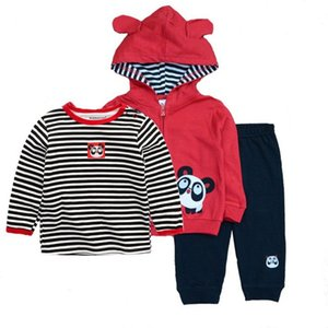 Fashion Baby Boy Clothing Sets Toddler Boys Cotton long sleeve bodysuits +pants+ coat Sports Suit Tracksuit Set Infant Outfits