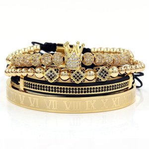Crown Charm Bracelet Men mens Luxury Bracelets womens bangles bangle 4pcs set couple bracelet for women men Designer jewelry