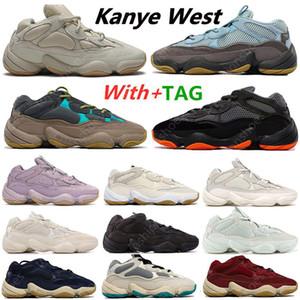 İndirim Kanye 500 Lavanta Enflam Yumuşak Vizyon Taş Koşu Ayakkabıları Çöl Sıçan Kemik Beyaz 500 S Yardımcı Programı Siyah Erkek Spor Eğitmenler Sneakers