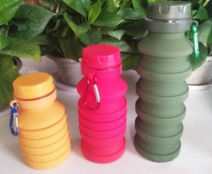 Fold Silicone Sport Water Bottle Creative Outdoor Flexible Drink Cups Cycling Bottles Travel With Mountaineering Buckle 10gh C Rv