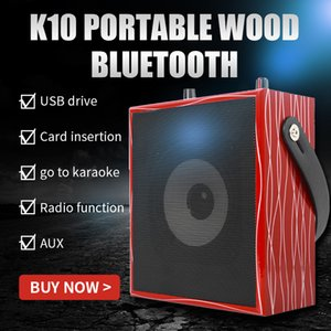 Wooden Frame Portable Speaker, Bluetooth Wireless High Quality Speaker with Aux TF Card USB Slot HIFI 5W Stereo