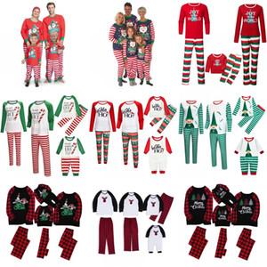 Christmas Family Pajamas Sets Dad Mom Kids Baby Family Matching Christmas Sleepwear Christmas Night Pajamas Party Wear AHA1839