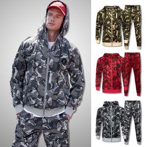 Men Camouflage Sweat Suit 2020 Brand New Tracksuit Set Men Sweatshirts Sweatpants Sportswear Clothing Male Casual Jogger Sets LJ201126