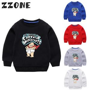 Çocuk Kapüşonlular Çocuklar Kaptan Külot Karikatür Tişörtü Bebek Pamuk Kazak Kız Erkek Sonbahar Giyim Tops, KYT5252 201013