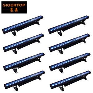 pared LED DJ estándar de la lavadora de la batería remoto DMX lavar DMX inalámbrico con pilas Lámpara PAR LED RGBWA + UV 6en1 color del LED luz de la colada