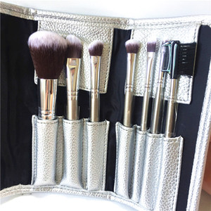 SEP Deluxe Antibacterial Brush Set - 7-Brushes Antibacterial Synthetic Hair Makeup Brush kit Beauty Cosmetics Tools