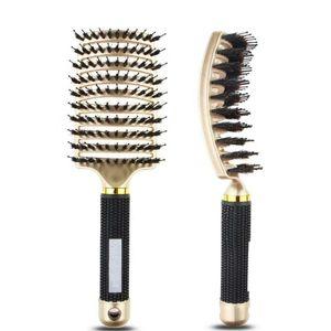 Anti Klit Hairbrush Women Female Hair Scalp Massage Comb Bristle&nylon Hairbrush Wet Curly Detangle Hair Brush For Salon