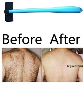 Men Manual Back Shaver Hair Remover Plastic Long Handle Shaver Back Hair Shaver Razor Evantek Body Grooming Kit LXL372