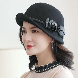 Beckyruiwu dama otoño e invierno chic irregular salsa fedora sombreros mujer fiesta formal top grado 100% lana fieltro sombrero1