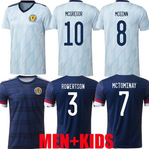 Nuovo 20 21 Scotland Soccer Jerseys 2020 2021 Robertson Fraser Camicia da calcio Set Naismith McGregor Christie Forrest McGinn Uomini Bambini Casa