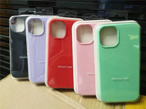 For iPhone 12 mini pro max silicone case original style 4 Full Liquid Silicone rubber Cases for iphone 12 with retail boxes