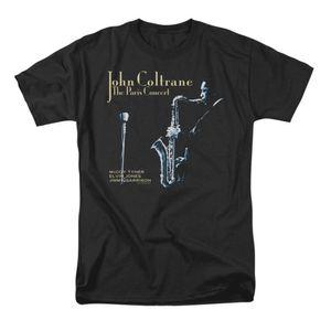 جون كولتراين الرجال باريس كولتراين تي شيرت اسود RockabiliaNew T قميص لربيع وصيف