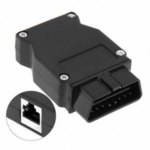 Abertura OBD-II 16Pin masculino Auto Extension Cable Car Diagnostic Interface de conector com cabo plug Boca cpqT #