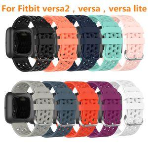For Fitbit Versa 2   Versa   Lite watchBand Breathable Silicone Breathable Watch Strap For Fitbit Versa Bracelet