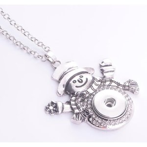 Noosa Women's Ginger Snap Pendant Necklace Interchangeable Jewelry Fit 18 20mm Snap Chunk Button Christmas Gift Snow jllnmf yy_dhhome