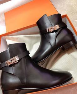 Cuero de las botas del tobillo kelly hebillas Diseño de lujo de las mujeres señoras del partido Botas vestido de novia de Martín de arranque famoso invierno Señora Caballero de arranque