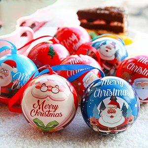 7 см Рождество Декор Дерево висячие шары Украшение Xmas Tree Can Болл Jar хранения елочных Candy Ball Дети подарков