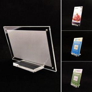 1x acrilico Plexiglass Tabella Display Card stand Photo Frame con base acrilica tabella scheda del segno Parte Kit strumento per la sposa