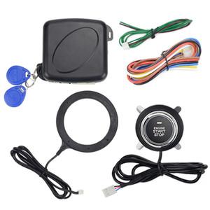 12 V Oto Araba Alarmı Bir Başlat Stop Düğmesi Motoru Push Button RFID Kilit Ateşleme Anahtarı Anahtarsız Giriş Starter Antitheft Sistemi