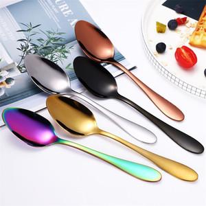 الفولاذ المقاوم للصدأ مائدة سكين سكين الغربية أدوات المائدة شوكة السكاكين تلميع حساء الحلوى ملعقة أربعة قطعة دعوى حار بيع 10 5YG F2