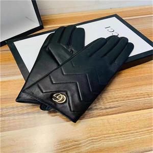 20 mode d'hiver nouveaux gants de créateurs thermiques, gants écran tactile haut de gamme, petit classique à rayures logo gants letterLouìs VUITTON