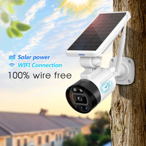 1080P 2MP الشمسية اللاسلكية WIFI بطارية الكاميرا في الهواء الطلق الأمن كاميرا IP اليكسا سحابة IP66 للماء الدوائر التلفزيونية المغلقة