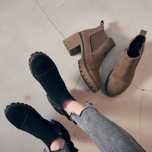 LAASIMI Women Wnter New High Heel Boots For Ladies Zipper Work&Safety Boot Shoes Woman Flock Short Plush Footwear Handmade 2021