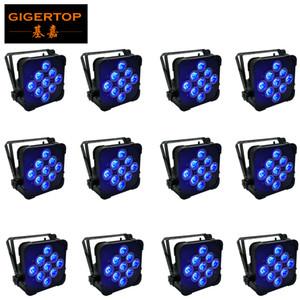 Быстрая доставка LED Flat Par 9x15W RGBWA Освещение Для DMX512 Stage Effect Профессиональный DJ оборудование и партия Танцпол Дискотека
