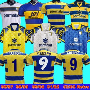 1998 99 00 Parma Retro Soccer Jersey 1999 00 Parme Crespo Thuram Baggio Parma Calcio Calcio Retro Home Football Jersey Retro Accueil 99 00 Champion