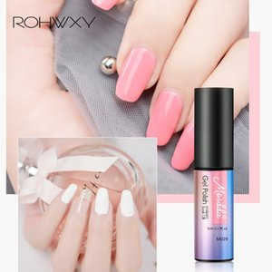 ROHWXY 5mL Glitter Gel Nail Polish Semi Permanent Soak Off UV Gel Nail Art Varnish Shining Primer Manicure Lacquer