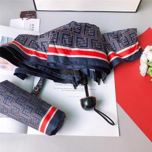 Classic Unisex Umbrellas Fashion F Carta impresa Hombres Mujeres Sunny Rainy Paraguas Outdoor Portable Parasol
