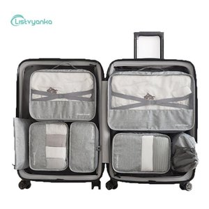 7 Pcs Set Suitcase Organizer Travel Organizer Set Luggage Cable Clothes Shoe Bags For Travel Storage Bags Portable