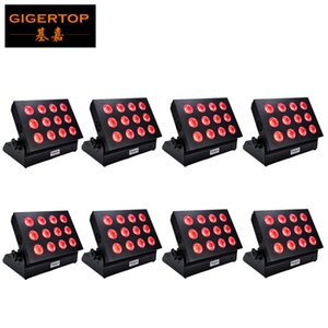 6in1 della fase della discoteca di illuminazione della batteria ricaricabile a LED 12x18W RGBWAUV trasporto libero Powered Wall Washer luce LED Wireless DMX