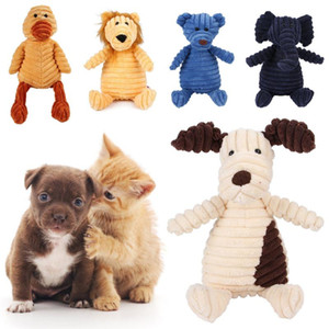 13 Colors Dog Chew Squeak Toys Rope Interactive Toy Cute Monkey Bear Lion Animal Plush Toy Puppy Chew Molar Toy Wholesale
