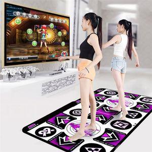 Dance Pad Doble User Double Mats Mats antideslizantes Danza Paso Pads Yoga Mat Sense Game English Menú para PC TV 2 Control remoto # LR4 201211