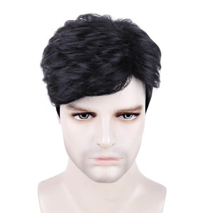 2021 Wig for men with short hair and wig for men can be easily matched with black synthetic hair sets