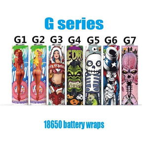 Newest 18650 Battery PVC Vape Skin Sticker Wraps Shrinkable Wrap Cover Sleeve Heat Shrink Re-wrapping Eig