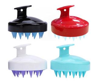 Silicone Shampoo Brush Shampoo Scalp Masaje Cepillo de Masaje Cómodo Silicona Peinado Lavado Comedor Cuerpo Baño Spa Slimming Pinceles de masaje OWEE2661