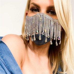 Yüz Yüz Seksi Maske Dekorasyon Parlak Aksesuarları Kapak Kadınlar Için Rhinestone Püskül Takı Düğün Gece Kulübü Decora