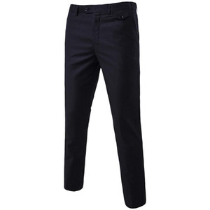 Male Spring Autumn Fashion Casual Business Long Pants Suit Pants Male Elastic Straight Formal Trousers