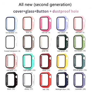 Funda de reloj Electroplate Hard con protector de pantalla para Apple Iwatch Series 5/4/3/2/1 Funda de cobertura completa para 38 40 42 44mm