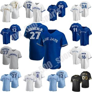11 Toronto 2020 Jersey Blue Jays Vladimir Guerrero Jr. Cavan Biggio Hyun-Jin Ryu Yamaguchi Randal Grichuk Drury Hernandez Jansen